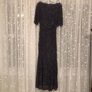 d7c44976b710 Night Way Collections Dresses - Charcoal gray Nightway glitter lace mermaid  gown